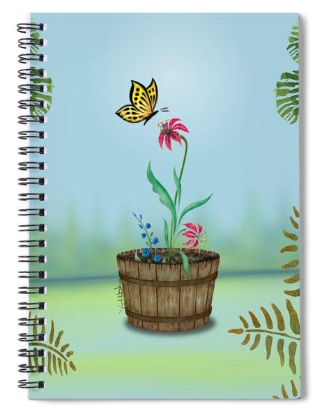 Bucket Butterfly 1 Spiral Notebook