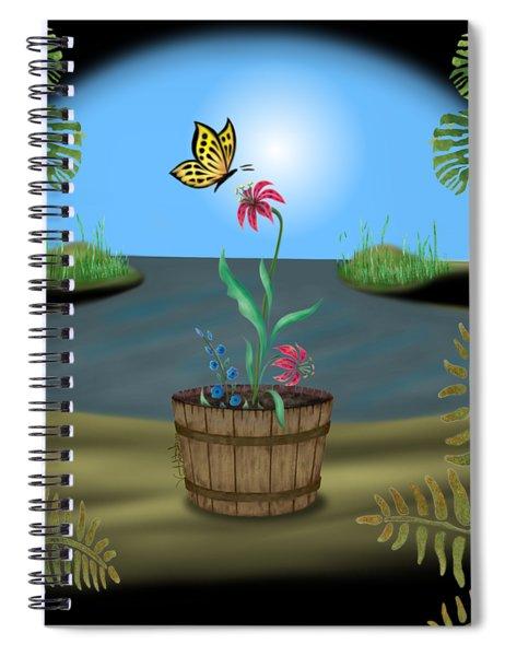 Bucket Butterfly Spiral Notebook