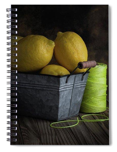 Bucket Of Lemons Spiral Notebook