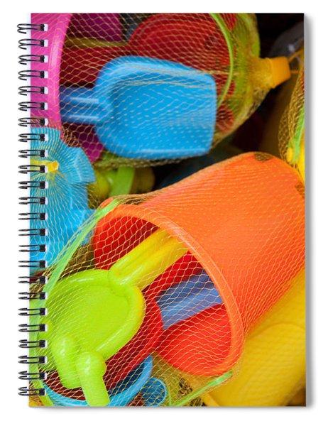Buckets And Spades Spiral Notebook