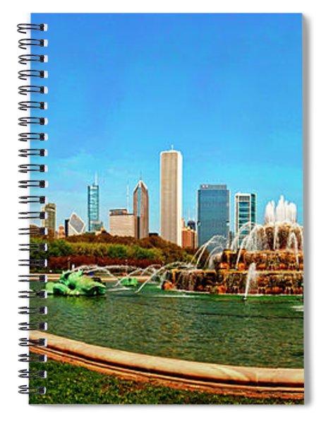 Buckingham Fountain Chicago Grant Park Spiral Notebook
