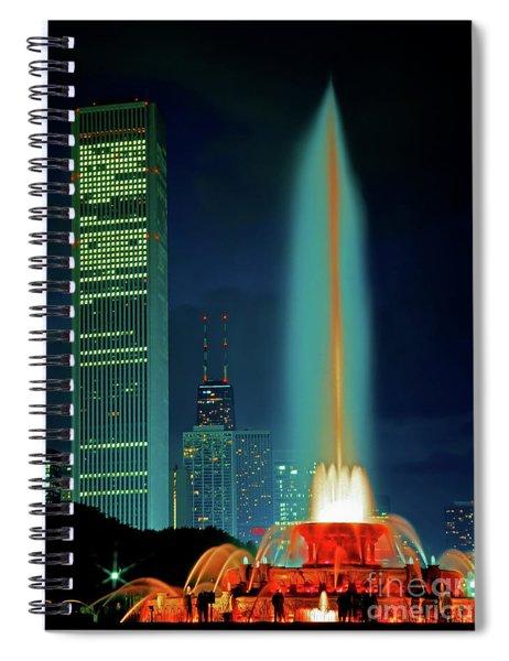 Buckingham Fountain  Chicago Landmark Spiral Notebook