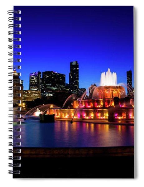 Buckingham Memorial Fountain Spiral Notebook