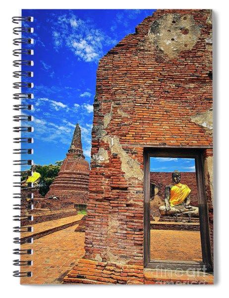 Buddha Doorway At Wat Worachetha Ram In Ayutthaya, Thailand Spiral Notebook