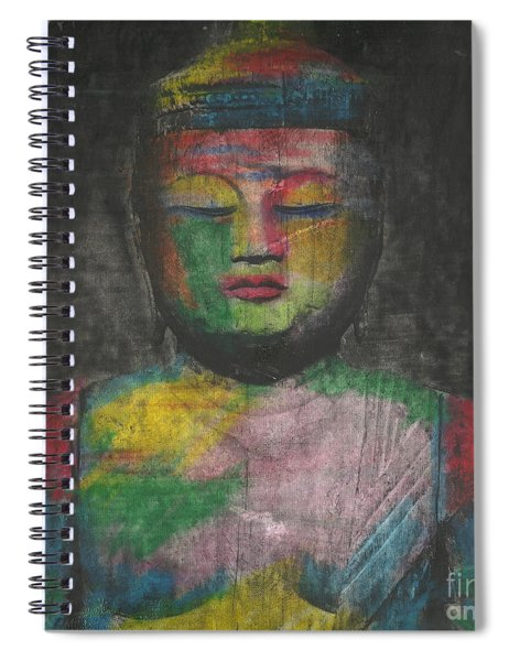Buddha Encaustic Painting Spiral Notebook