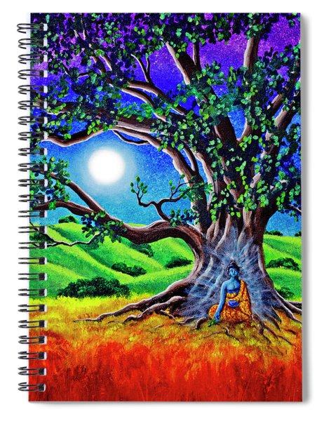 Buddha Healing The Earth Spiral Notebook