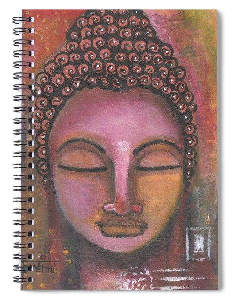 Buddha In Shades Of Purple Spiral Notebook by Prerna Poojara