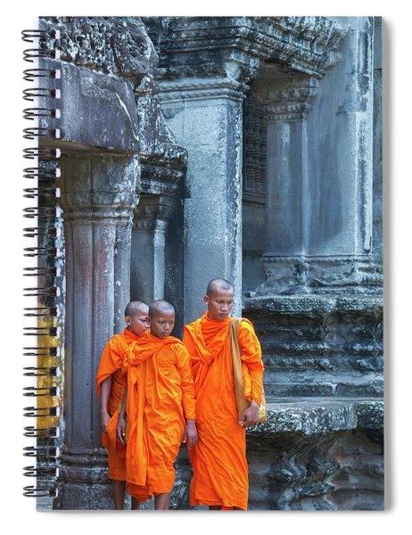 Buddhist Monks Cambodia Spiral Notebook