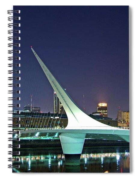 Buenos Aires - Argentina - Puente De La Mujer At Night Spiral Notebook
