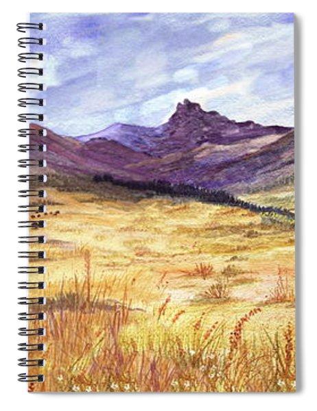 Buffalo Hunt Panorama Spiral Notebook