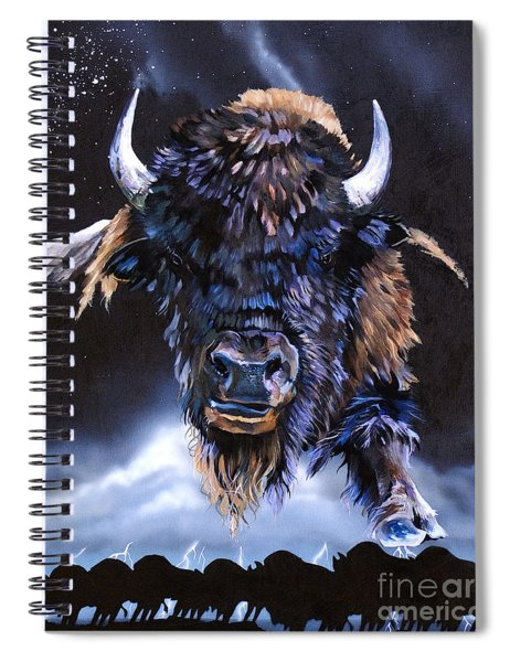 Buffalo Medicine Spiral Notebook