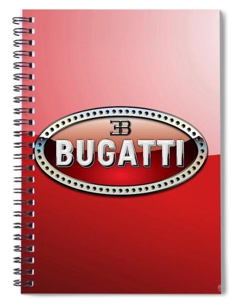 Bugatti - 3 D Badge On Red Spiral Notebook