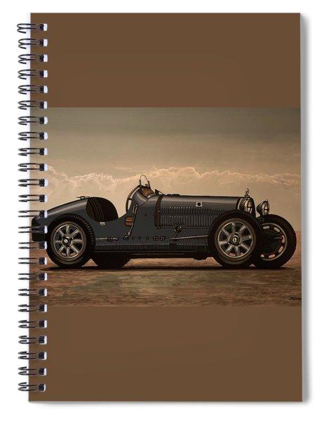 Bugatti Type 35 1924 Mixed Media Spiral Notebook
