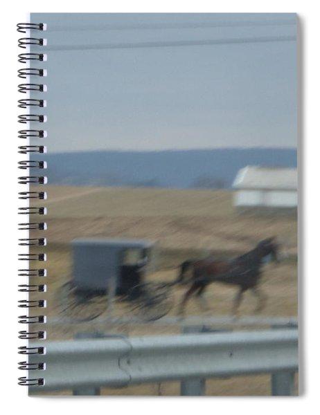 Buggy Ride Three Spiral Notebook