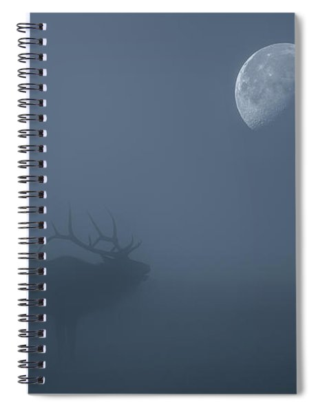 Bugle At The Moon Spiral Notebook