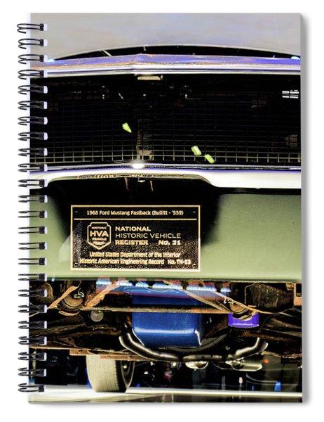 Bulitt Front View Spiral Notebook