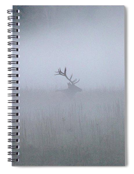 Bull Elk In Fog - September 30, 2016 Spiral Notebook