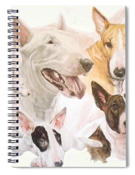 Bull Terrier Medley Spiral Notebook