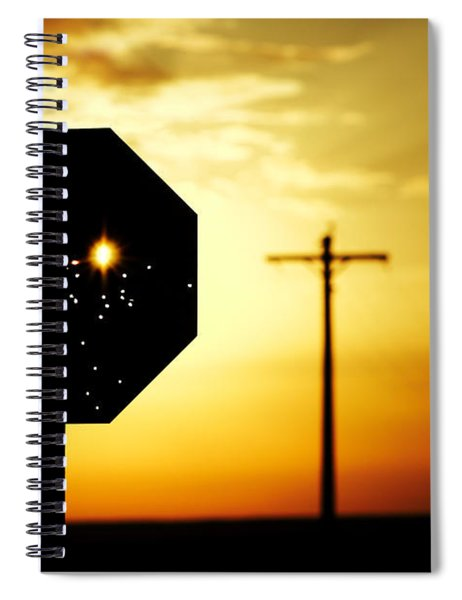 Bullet-riddled Stop Sign Spiral Notebook