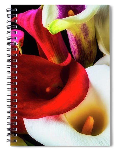 Bunch Of Beautiful Calla Lilies Spiral Notebook