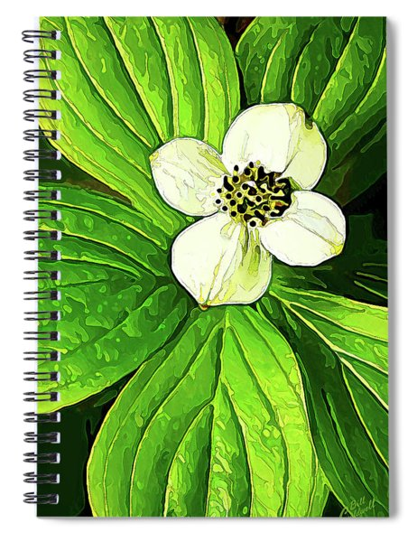 Bunchberry Blossom Spiral Notebook