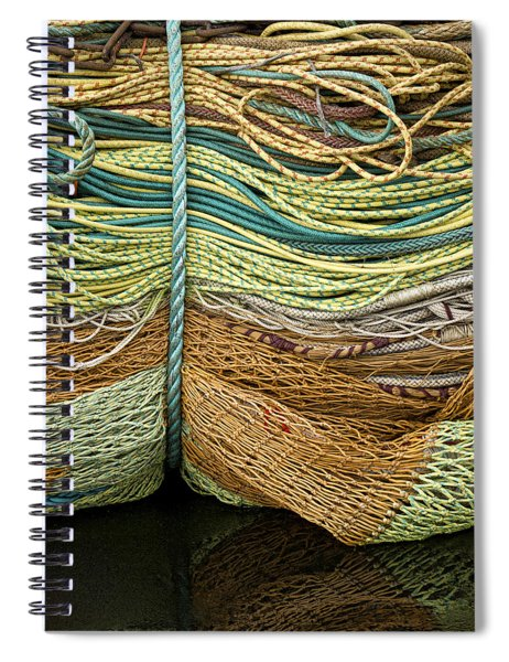 Bundle Of Fishing Nets And Ropes Spiral Notebook