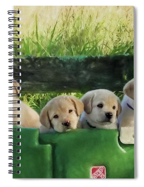 Bundles Of Joy - Labrador Art Spiral Notebook