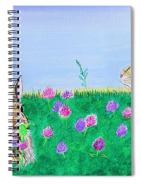 Bunnies In Clover Spiral Notebook