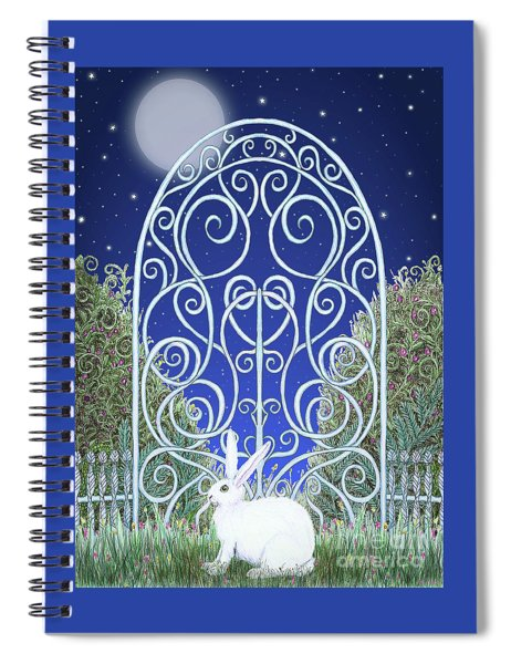 Bunny, Gate And Moon Spiral Notebook