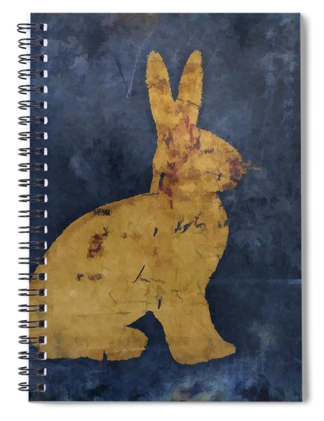 Bunny In Blue Spiral Notebook by Carol Leigh