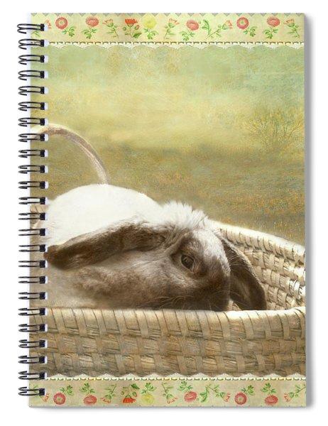 Bunny In Easter Basket Spiral Notebook