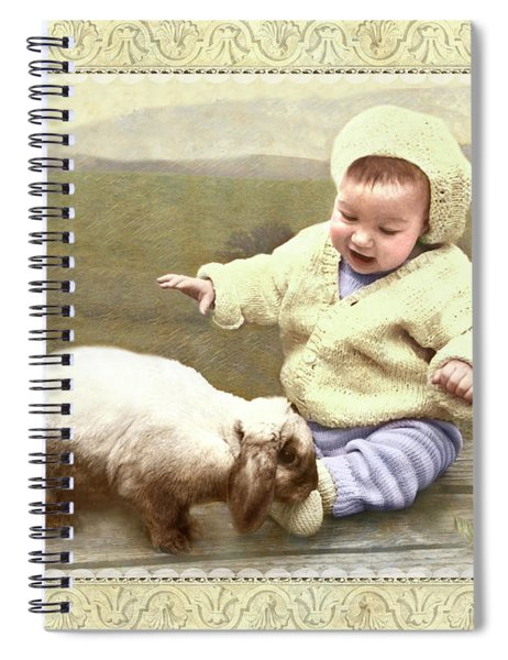 Bunny Nuzzles Baby's Toes Spiral Notebook