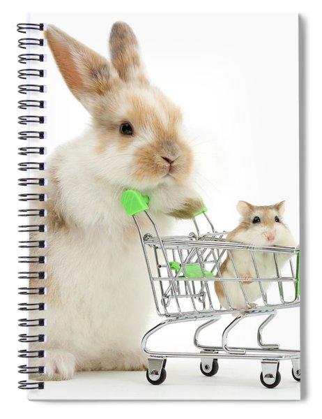 Bunny Shopping Spiral Notebook