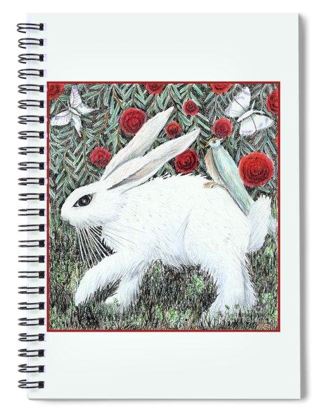 Bunny With Hitchhiker Spiral Notebook