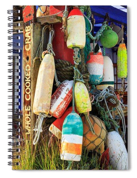 Buoys At The Crab Shack Spiral Notebook