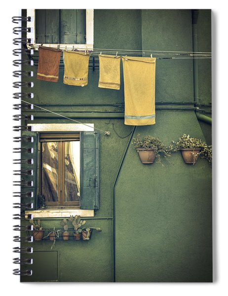 Burano - Green House Spiral Notebook