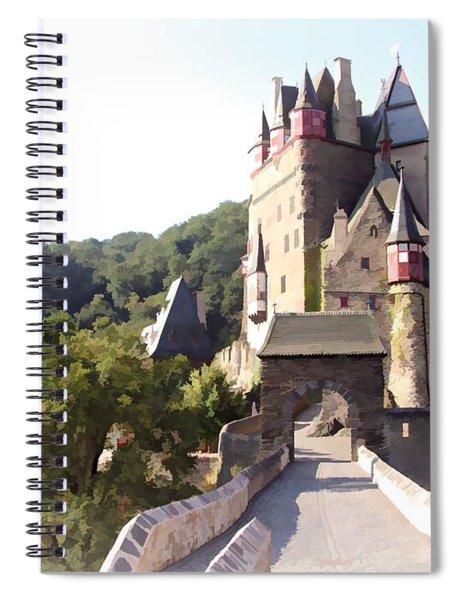 Burg Eltz. The Gate - Watercolor Spiral Notebook