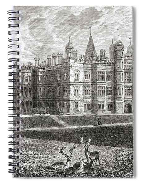 Burghley House, Stamford, England In Spiral Notebook