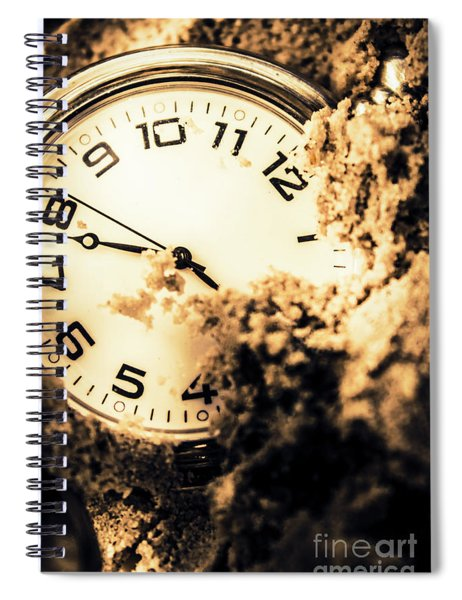 Buried By The Hands Of Time Spiral Notebook