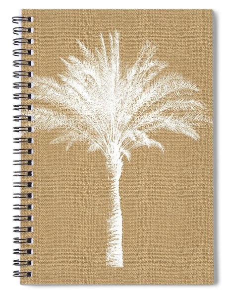 Burlap Palm Tree- Art By Linda Woods Spiral Notebook