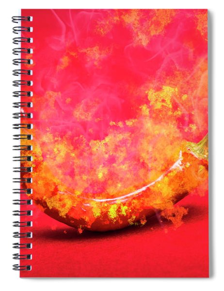 Burning Red Hot Chili Pepper. Mexican Food Spiral Notebook