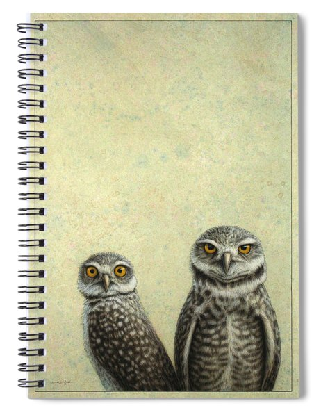 Burrowing Owls Spiral Notebook by James W Johnson