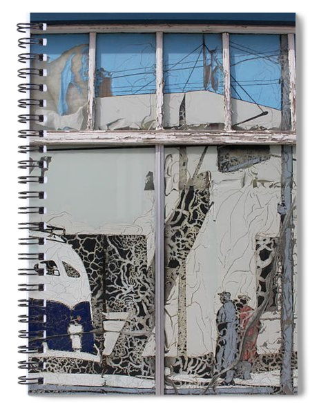 Vintage Bus Depot Sign Spiral Notebook