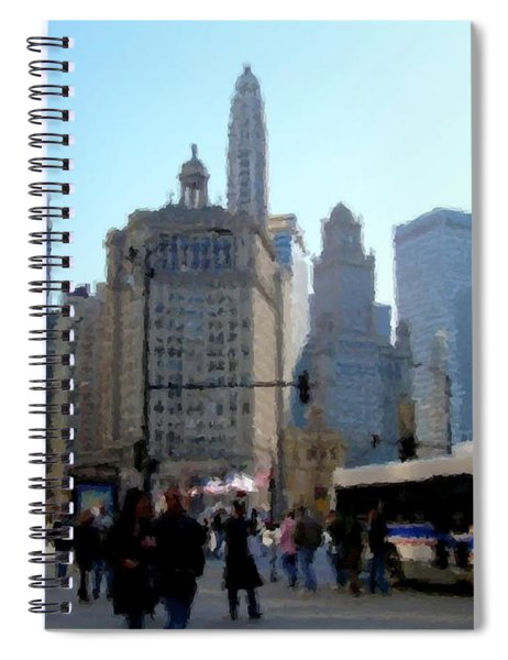 Bus On Miracle Mile  Spiral Notebook