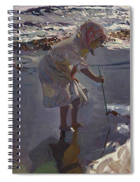 Buscando Mariscos, Playa De Valencia Spiral Notebook
