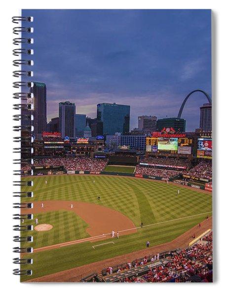 Busch Stadium St. Louis Cardinals Ball Park Village Twilight #3c Spiral Notebook