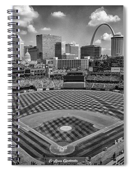 Busch Stadium St. Louis Cardinals Black White Ballpark Village Spiral Notebook