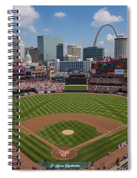 Busch Stadium T. Louis Cardinals Ball Park Village National Anthem #3a Spiral Notebook