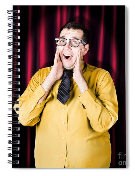 Businessman In Performance Review Spotlight Spiral Notebook