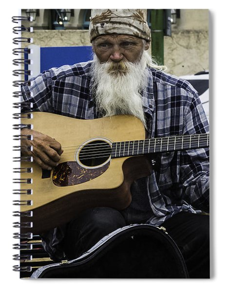 Busking In New Orleans, Louisiana Spiral Notebook